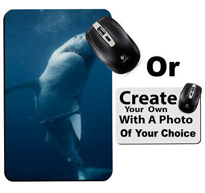 Shark Mousemat Underwater Sharks Great White Fish Gift Computer Mouse Mat a999