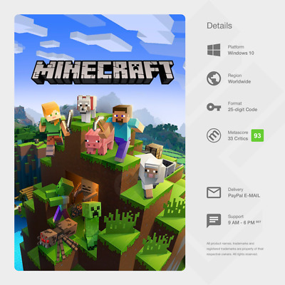 Minecraft Windows 10 Edition (PC) - Digital Code [GLOBAL]