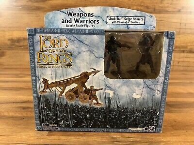 Lord of the Rings Uruk-Hai Seige Ballista Battle Figure Weapon Set LOTR New