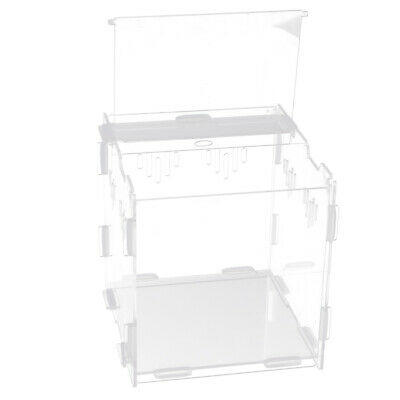 Clear Acrylic Reptile Breeding Feeding Terrarium Case - Available in 4 Sizes