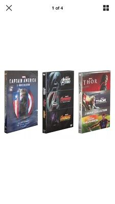 Marvel The Avengers & Captain America & Thor 3-Movie Collection DVD BOX SET.