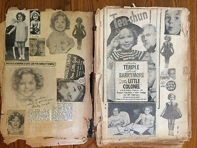 1930s Hollywood Movie Star Scrap Book Pages Ads Articles Shirley Temple Astaire