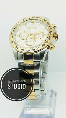 New Hugo Boss Hb1512960 Two Tone Gold And Silver Mens Watch 2 Year Warranty