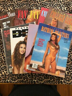 Collection Lot Of 9 PLAYBOY SPECIAL EDITIONS Bunnies Blondes College Bathing