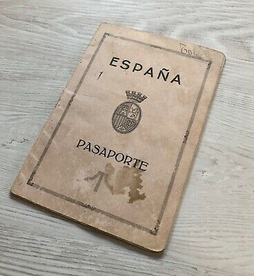 Spain / Spanish 1932 collectible passport issued at San Sebastian