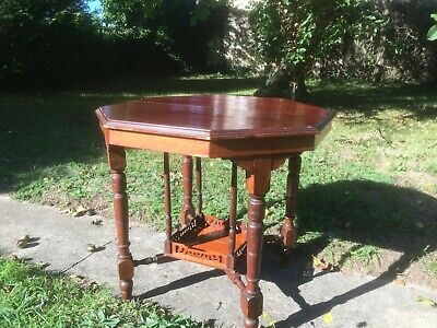 Original Edwardian mahogany octagonal side/hall/occasional table