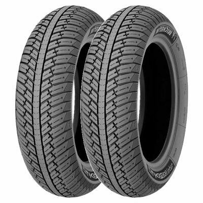 Coppia Gomme Michelin 100/80-16 56S + 130/70-12 62P City Grip Winter