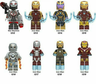 Marvel Iron Man Minifigure Mini Figure Avengers Tony Stark Ironman Mark Pepper