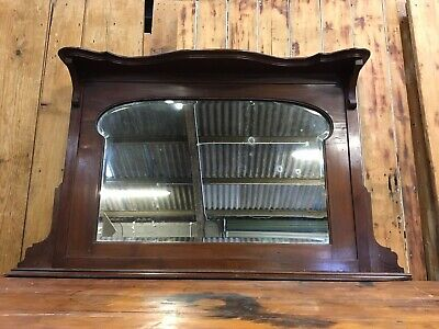 Large Vintage Victorian/Edwardian Overmantle Mirror in Mahogany Surround/Frame