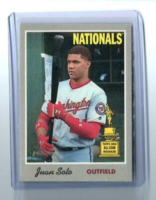 JUAN SOTO 2019 Topps Heritage CLOTH STICKER #4 RETAIL EXCLUSIVE Nationals SP
