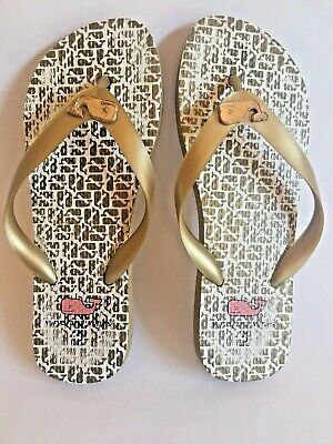 a48bacea7 VINEYARD VINES YOUTH Girls Sz 1 Pink Classic Flip Flops Anchors and ...