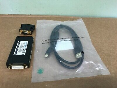 Monoprice USB 2.0 to DVI Display Adapter Works W/ CRT, LCD, & Projector Displays