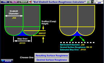 CNC Lathe Turning Surface Roughness Calculator Software Iscar Carbide Inserts