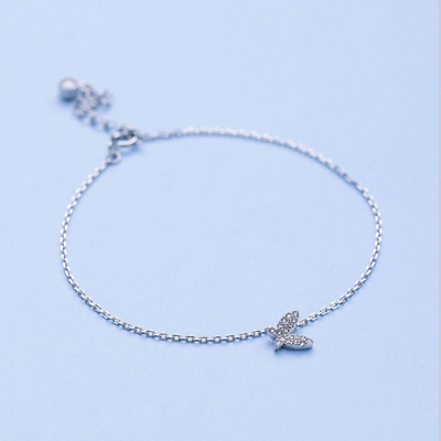 Real 925 Sterling Silver Butterfly Bracelet Chain Bangle SOLID SILVER Jewelry