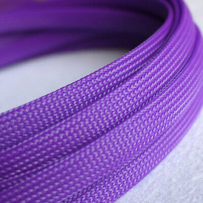 3-25mm Purple Braided Cable Sleeving/Sheathing PET Auto Wire Sleeve Harnessing