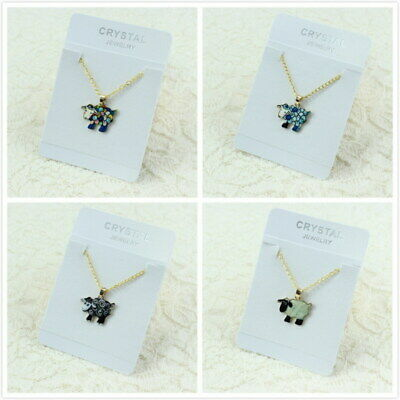 Fashion Jewelry Woman Man Lover Gold Chain Cute Enamel Sheep Pendant Necklace