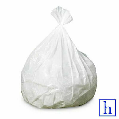 """White Refuse Sack Wheelie Bin Liner Bags Home/Office/Laundry Poly32""""x32""""x7"""""""