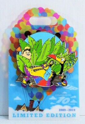 Disney Pixar Up 10th Anniversary Russell & Kevin Family 3-D Pin LE 3000 NEW CUTE