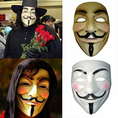 Anonymous Guy V for Vendetta Mask Fawkes Halloween Fancy Party Cosplay Accessory