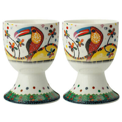 2pc Maxwell & Williams Smile Style Egg Cup/Holder Hard Boiled Stand Set Tango