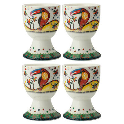 4pc Maxwell & Williams Smile Style Egg Cup/Holder Hard Boiled Stand Set Tango