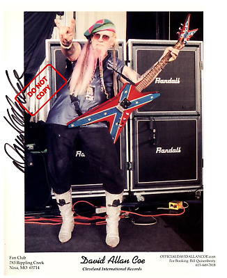 David Allan Coe 8x10 Signed Autograph Reprint Photo {FREE SHIPPING} 03