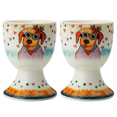 2pc Maxwell & Williams Smile Style Egg Cup/Holder Hard Boiled Stand Set Posey