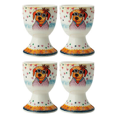 4pc Maxwell & Williams Smile Style Egg Cup/Holder Hard Boiled Stand Set Posey
