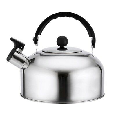 3L Stainless Steel Whistling Kettle - Home Camping Caravan Lightweight mz
