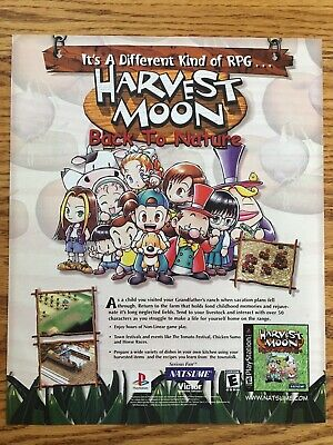HARVEST MOON: BACK To Nature PLAYSTATION PS1 PS2 farming simulation