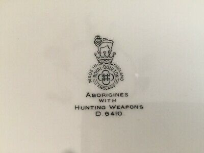 Aborigines with Hunting Weapons Royal Doulton Plate Made in England S/No. D6410