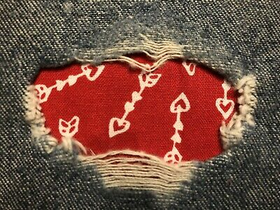 Red Sequin Iron On Patches Heart 2 SMALL W//Arrows Red Cupids Hearts