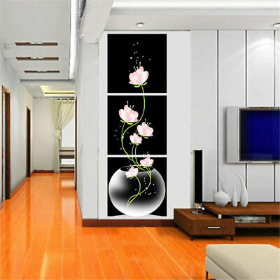 Decorative Canvas Modern Black Abstract Art Unframed Oil Painting Wall Decors