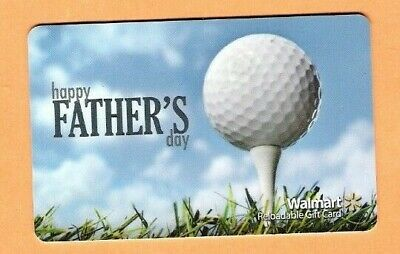 Collectible Walmart Gift Card - Fathers Day Golf - No Cash Value - FD40744