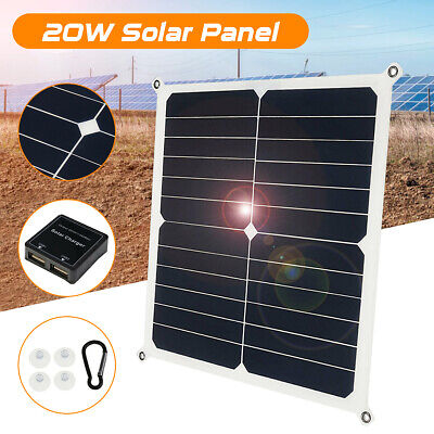 20W Monocrystalline 2USB Output Solar Panel Battery Charger w/ Solar Controller