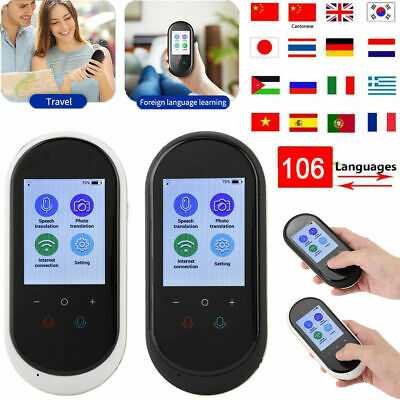Smart T8 Pro 2.4 inch Real Time 106 Languages Voice Translator 5MP Camera WIFI