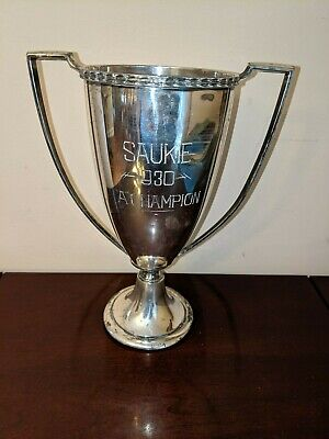 Vintage Essex Silver Plate Co Saukie Golf Course Trophy 1930 Rock Island Ill