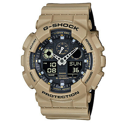 Brand New Casio G-Shock Ga100L-8A Ana-Digi Sand/Black Mens Resin Watch Nwt!!!!!