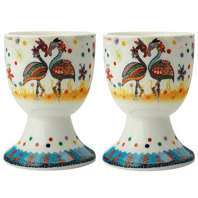 2pc Maxwell & Williams Smile Style Boiled Egg Cup/Holder Stand Set Flamboyant