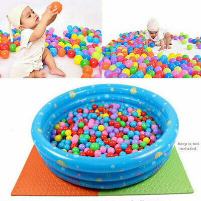 20/50/100x Colorful Soft Plastic Ocean Water Pool Ball Funny Kids Swim Pit Toys
