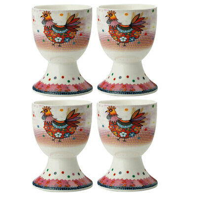 4pc Maxwell & Williams Smile Style Egg Cup/Holder Hard Boiled Stand Set Peggie