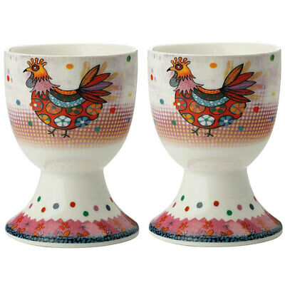 2pc Maxwell & Williams Smile Style Egg Cup/Holder Hard Boiled Stand Set Peggie