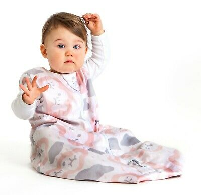 Baby Studio Cotton Winter Sleeping Bag Without Arms 2.5 Tog Clouds Pink