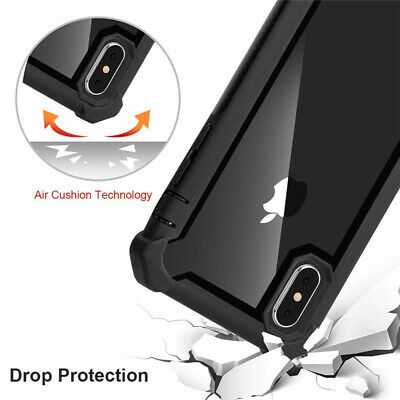 Fit iPhone XR XS MAX 6S 7 8 Plus Clear Case Cover Shockproof Heavy Duty Hybrid