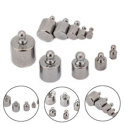 5PCS  1g 2g 5g 10g 20g Grams Precision Chrome Calibration Scale Weight Set Kit