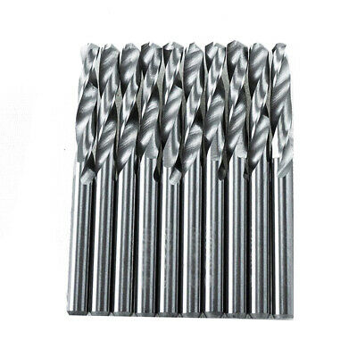 "10X Solid Carbide 2 Flutes Drill Bit Set 3.175mm 1/8"" 2-Flute Straight Shank K10"