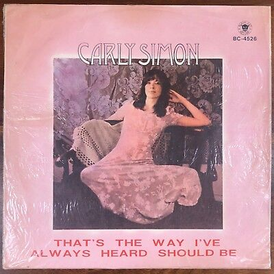 Carly Simon Self Titled Vinyl LP 1971 Black Cat Recort Unofficial TAIWAN IMPORT
