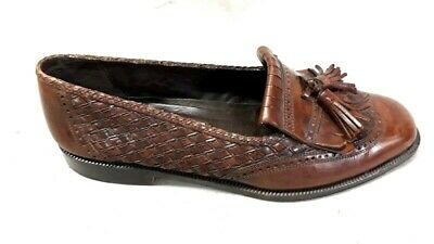 2fe2977305 Cole Haan Bragano Tassel Loafer Brown Leather Dress Shoes Italy Mens Size 9  D