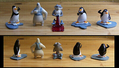 Lot de 5 figurines Kinder Pingouins de Madagascar