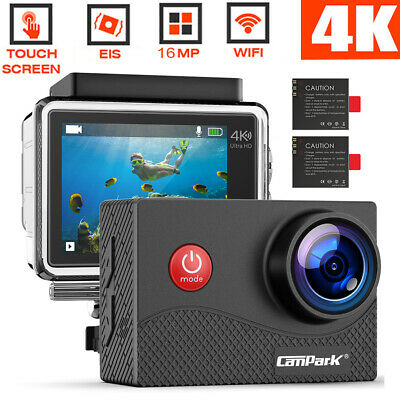 Campark Action Cam HD 4K Sports Camera WiFi Touch Screen Helmkamera Wasserdichte
